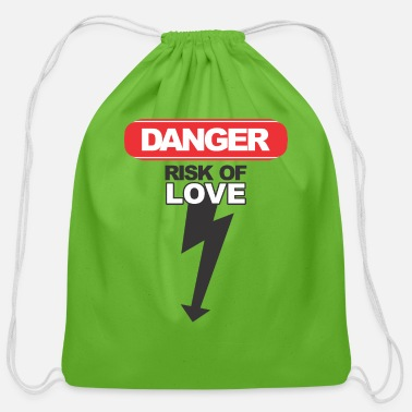 Danger! Risk of Love - Cotton Drawstring Bag