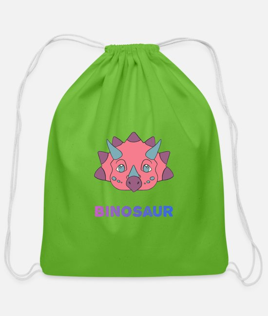Bisexual Bags & Backpacks - Biceratops - Cotton Drawstring Bag clover