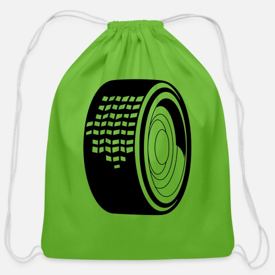 Automobile Bags & Backpacks - Tire 11 - Cotton Drawstring Bag clover