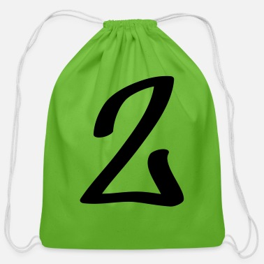 Numbers Graffiti number 2 - Cotton Drawstring Bag
