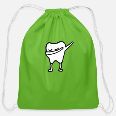 Tooth tooth - Cotton Drawstring Bag