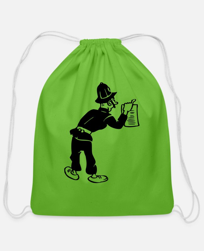 Office Bags & Backpacks - Policeman with warrant - Cotton Drawstring Bag clover