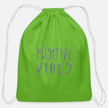 Positive Vibes POSITIVE VIBES - Cotton Drawstring Bag