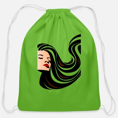 Luscious Luscious Hair Clip Art - Cotton Drawstring Bag