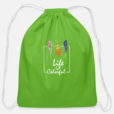 Coloring life is colorful, be colorful - Cotton Drawstring Bag