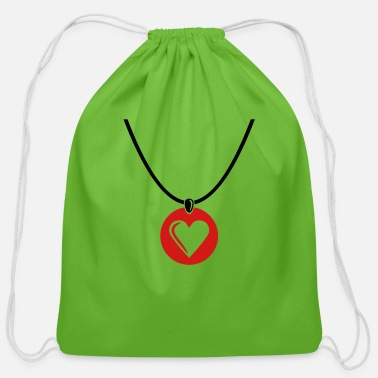 Necklace Heart Necklace - Cotton Drawstring Bag