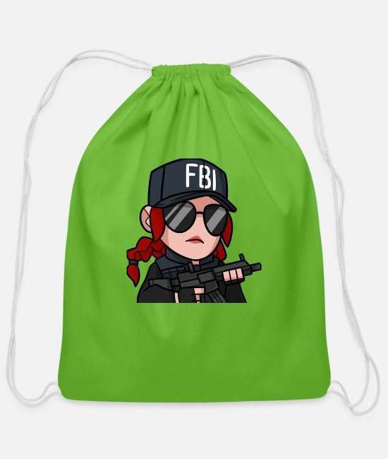 Volcano Bags & Backpacks - Ash shirt tshirt hoodie sweater- Rainbow Six Siege - Cotton Drawstring Bag clover