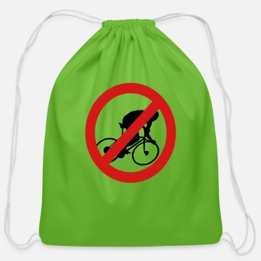 Prohibited Prohibit Bikes - Cotton Drawstring Bag