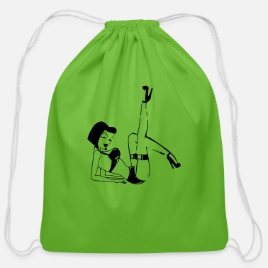 Pinup pinup - Cotton Drawstring Bag