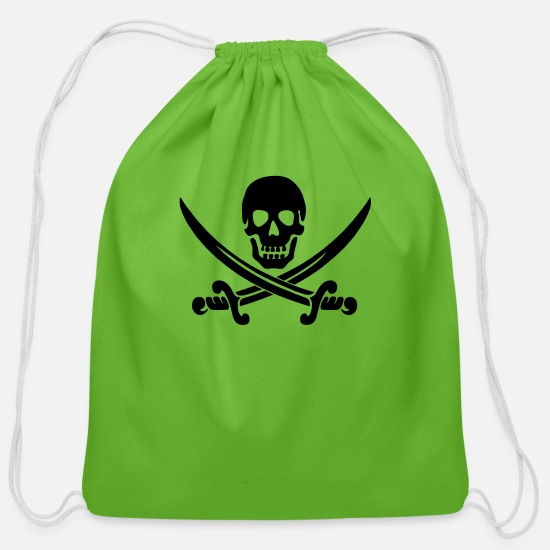 Pirate Bags & Backpacks - Pirate - Cotton Drawstring Bag clover