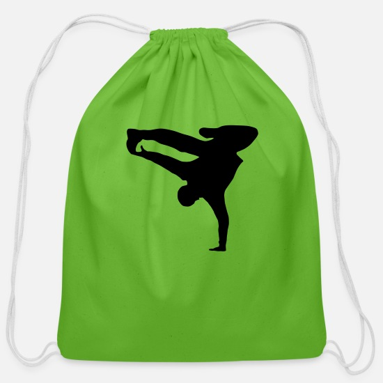 Bboy Bags & Backpacks - Breakdancer, b-boy - Cotton Drawstring Bag clover