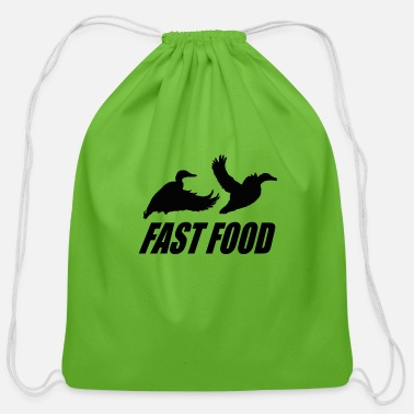 Waterfowl Fast food waterfowl - Cotton Drawstring Bag