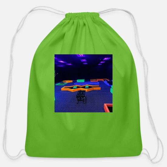 Neon Bags & Backpacks - Neon Lights - Cotton Drawstring Bag clover