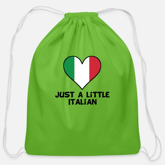 Italian Bags & Backpacks - Just A Little Italian - Cotton Drawstring Bag clover