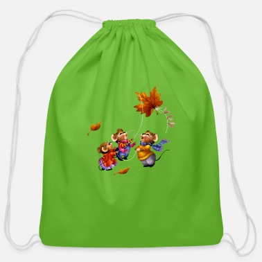 Mice mice - Cotton Drawstring Bag
