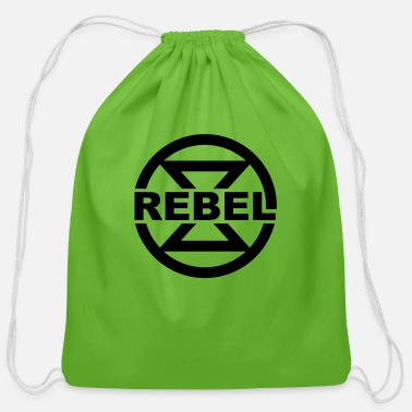 Rebel, hourglass, symbol, climate, environment, - Cotton Drawstring Bag