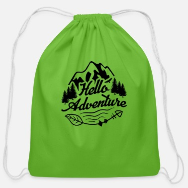 Hello Hello adventure - Cotton Drawstring Bag