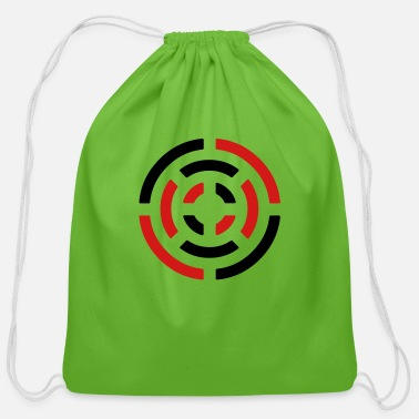 Abstract circle sign - Cotton Drawstring Bag