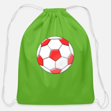 Inflated Oval Football - Cotton Drawstring Bag
