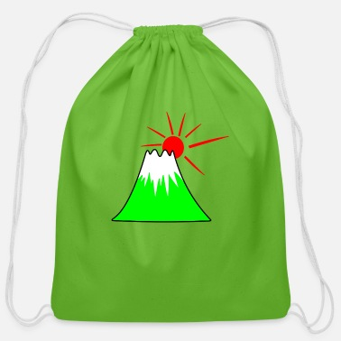 Kendo Fuji mountain Japan - Cotton Drawstring Bag