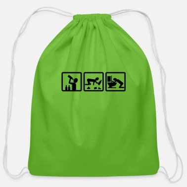 Laugh alcohol v2 - Cotton Drawstring Bag