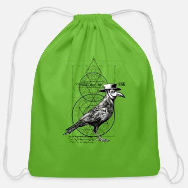 The Plague Raven - Cotton Drawstring Bag
