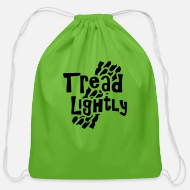 Tread Tread Lightly - Cotton Drawstring Bag