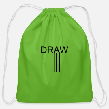 Draw drawing art - Cotton Drawstring Bag