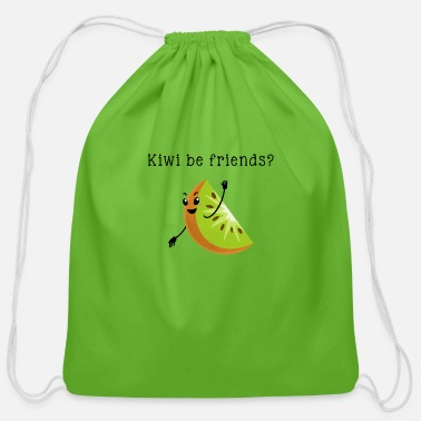 Kiwi Friend Kiwi be friends - Cotton Drawstring Bag