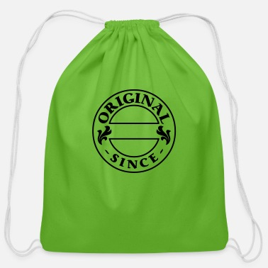 Stamp original since + your year of birth - Cotton Drawstring Bag