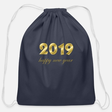 Production Year happy new year 2019 products - Cotton Drawstring Bag