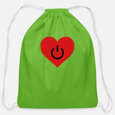 Heart power of love v2 - Cotton Drawstring Bag