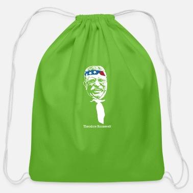 President Theodore Roosevelt American Patriot - Cotton Drawstring Bag 540451f0eded