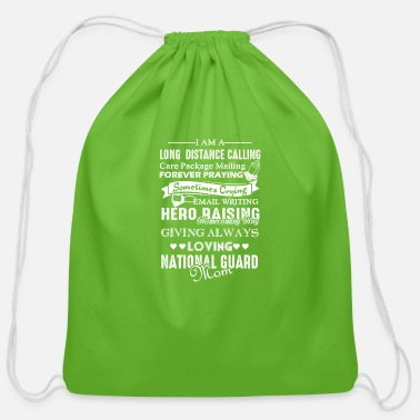 National Love National Guard Mom Shirt - Cotton Drawstring Bag