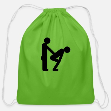 Irony gay guys - Cotton Drawstring Bag