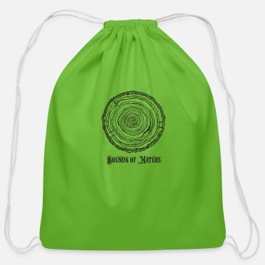 sounds of nature tee - Cotton Drawstring Bag