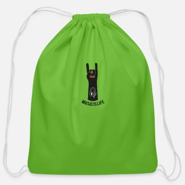 Music Is Life Music is life - Cotton Drawstring Bag