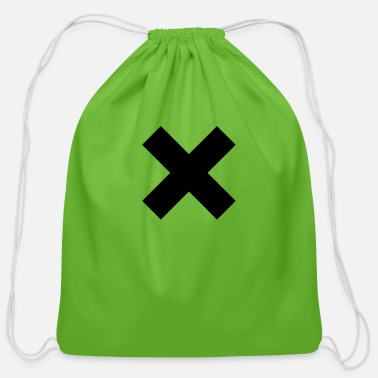 Mark Something The X mark - Cotton Drawstring Bag