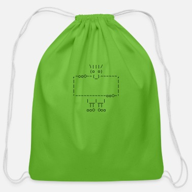 Geek ascii art: troll - Cotton Drawstring Bag