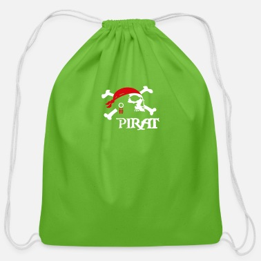 Piracy Pirat Jolly Roger Piraterie Piracy - Cotton Drawstring Bag