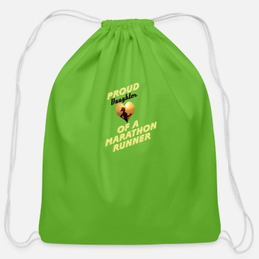 Runner daughter - Cotton Drawstring Bag