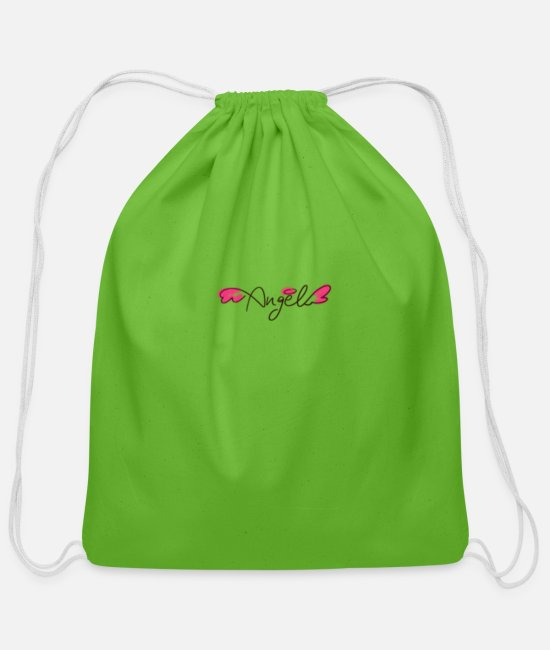 Angel's Wings Bags & Backpacks - Angel - Cotton Drawstring Bag clover