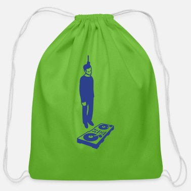Rave hang the DJ - Cotton Drawstring Bag