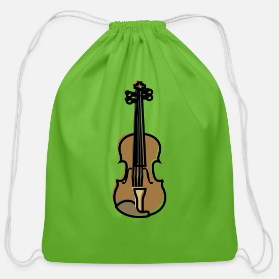 Violin Bags & Backpacks - Violin - Cotton Drawstring Bag clover