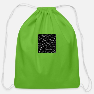Mummy October Halloween halloween ghost doodle Black - Cotton Drawstring Bag