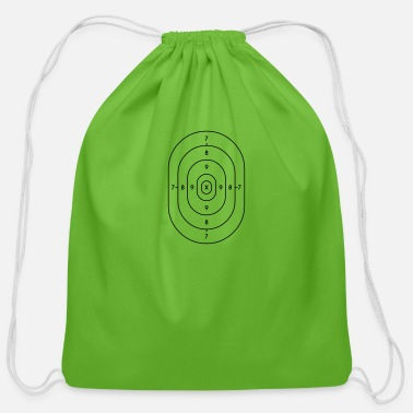 Strike police target paper - Cotton Drawstring Bag