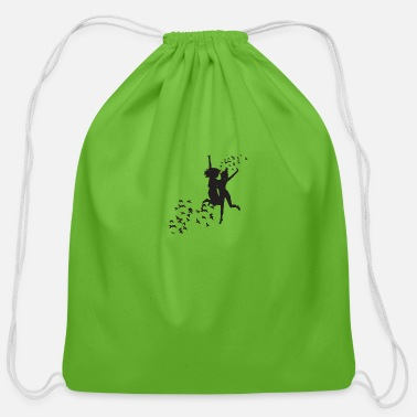 Black And White Black and white - Cotton Drawstring Bag