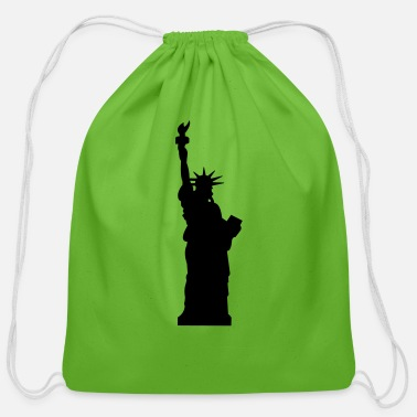 Seeing statue of liberty - Cotton Drawstring Bag