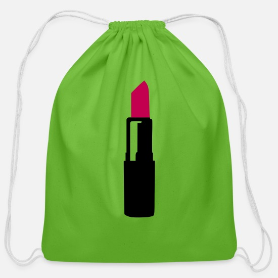 Lips Bags & Backpacks - Lipstick - Cotton Drawstring Bag clover