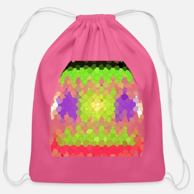 Octagon Octagon pattern - Cotton Drawstring Bag